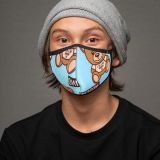 (Non-protection) Fashion Print One Piece Face Shield