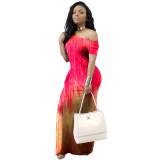 Casual Gradient Maxi Dress