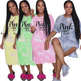 Casual Printed Women's Loungewear Midi Dress