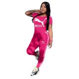 Casual Sports Stitching Pant Set