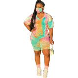 Casual Tie Dye Shorts Outfits