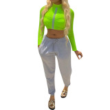 Casual Solid Color Sports Trousers