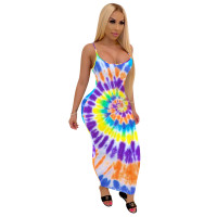 Casual Printed Straps Maxi Dress