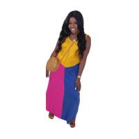 Casual Sleeveless Stitching Maxi Dress