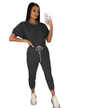 Casual Cotton Sports Outdoor Two Piece Set