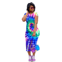 Casual Print Burnt Colorful Mid Dress