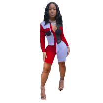 Casual Stitching Two Piece Set