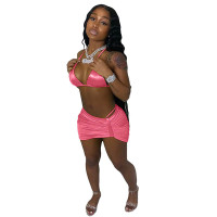 Bikini Halter Swimsuit Three Piece Set