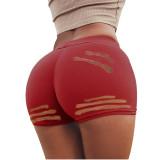 Solid Color Burnt Shorts