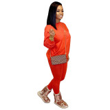 Solid Color Long Sleeve Pant Set
