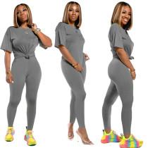 Solid Color Pant Set