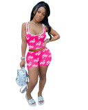 Casual Print Vest Top and Shorts