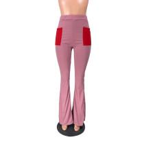 Casual Pocket Flared Pants