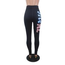Alphabet Print Yoga Trousers