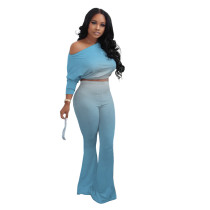 Casual Gradient Two Piece Outfits