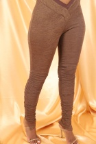 Solid Color Slit Micro Flared Stacked Sweatpants