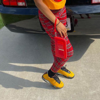 Casual Plaid Printed Zipper Trousers