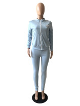 Casual Print Letter Cardigan + T-shirt and Trousers 3 Piece Set