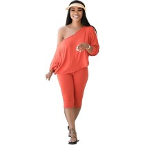 Autumn Pure Color Two Piece Tracksuit Outfits
