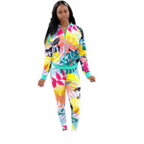 Casuall Print Sports Two Piece Outfits