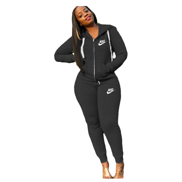 Casual Letter Embroidery Sports Trousers Outfits