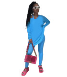 Solid Color Sports Blouse and Trousers with Vest 3 Piece Set