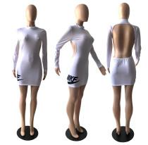 Sexy Backless Long Sleeve Club Dress