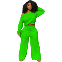 Casual Solid Color Two Piece Set