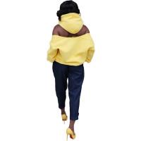 Casual Zipper Cold Shoulder Hoodie Sweatshirt