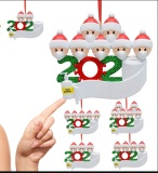 Personalized Quarantine Survived Christmas Ornament Kit, 2020 Customized Family Members Name Xmas Tree Pendants DIY Creative Gift(1,2,3,4,5,6,7)