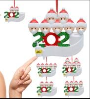 Personalized Quarantine Survived Christmas Ornament Kit, 2020 Customized Family Members Name Xmas Tree Pendants DIY Creative Gift(1,2,3,4,5,6,7)