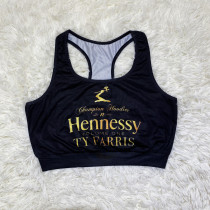 Casual Sports Graphic Print Vest Top