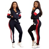 Casual Print Letter Sport Two Piece Set