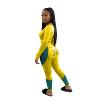 Casual Printed Letter Sports Two Piece Outfits