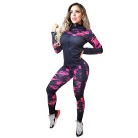 Casual Print Dyeing Pant Set