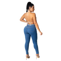 Casual Hot Drill Hole Stretch Jeans