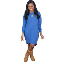 Solid Color T-shirt Dress