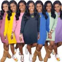 Solid Color T-shirt Dress