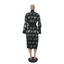 Print Kimono Robes Outerwear For Women
