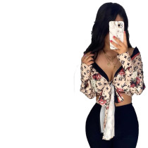 Printed Bandage Cape Top