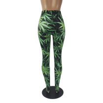 Casual Pattern Printed Yoga Trousers
