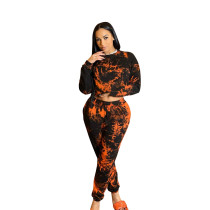 Autumn/Winter Printed Sports Two Piece Outfits