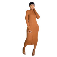 Winter Warm Home Ribbed Maxi Dress
