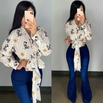 Casual Printed Bandage Cloak (available on 21th)