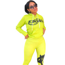 Casual Sports Printed Two Piece Outfits