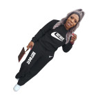Casual Letter Print Sports Sweatshirt Two Piece Outfits