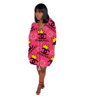 Casual Hoodie Prinit Dress
