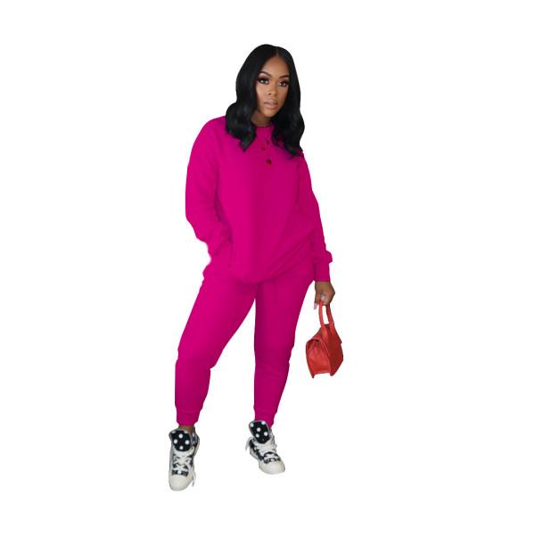 Solid Color Sport Pant Set