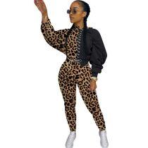 Casual Leopard Print Pant Set