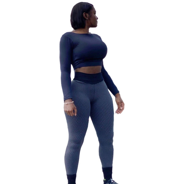 Back Hollow Yoga Sports Crop Top and Pant